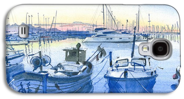 Sailboats Drawings Galaxy S4 Cases - Marine Me 2 Galaxy S4 Case by Olga Sorokina
