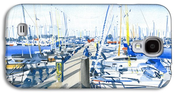 Sailboats Drawings Galaxy S4 Cases - Marine  Me 1 Galaxy S4 Case by Olga Sorokina