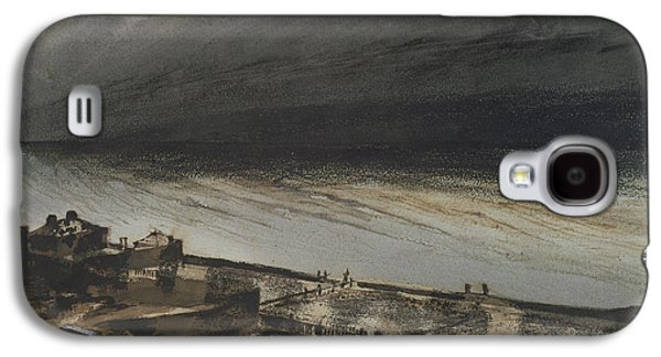 Abstract Seascape Drawings Galaxy S4 Cases - Marine Terrace in Jersey Galaxy S4 Case by Victor Hugo