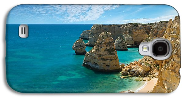 Portugal Galaxy S4 Cases - Marinha Cove Algarve Portugal Galaxy S4 Case by Amanda And Christopher Elwell