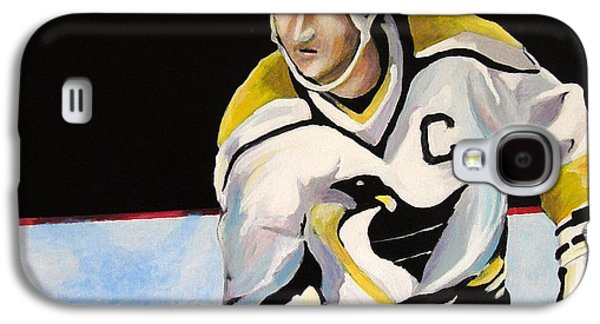 Mario Lemieux The Penguin That Saved Pittsburgh Galaxy S4 Case by Philip Kram