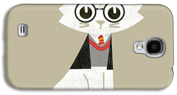 Pet Digital Art Galaxy S4 Cases - Mark the wizard cat Galaxy S4 Case by Budi Satria Kwan