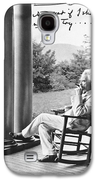 Mark Twain On A Porch Galaxy S4 Case by Underwood Archives