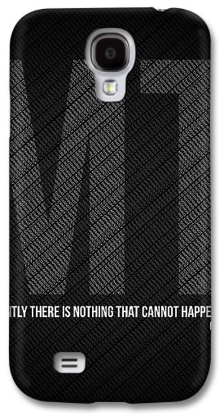 Motivational Galaxy S4 Cases - Mark Twain Quote Poster Galaxy S4 Case by Naxart Studio