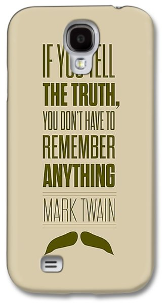 Digital Design Galaxy S4 Cases - Mark Twain quote truth life modern typographic print  Galaxy S4 Case by Lab No 4 - The Quotography Department
