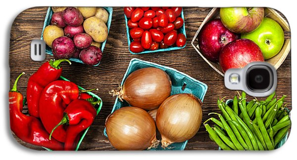 Local Food Galaxy S4 Cases - Market fruits and vegetables Galaxy S4 Case by Elena Elisseeva