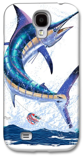 Striped Marlin Galaxy S4 Cases - Marlin leap Galaxy S4 Case by Carey Chen