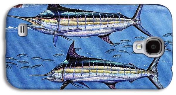 Marlin Galaxy S4 Cases - Marlins Twins Galaxy S4 Case by Terry Fox