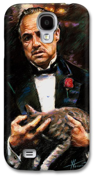 The Godfather Galaxy S4 Cases - Marlon Brando The Godfather Galaxy S4 Case by Viola El