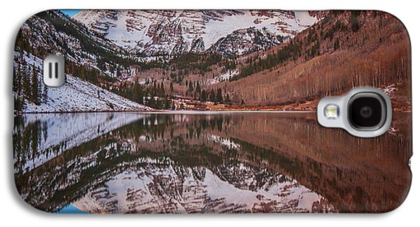 Landscape Acrylic Prints Galaxy S4 Cases - Maroon Bells Alpenglow Galaxy S4 Case by Darren  White