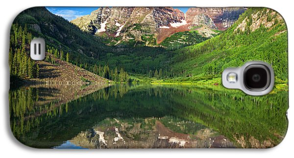 Landscape Acrylic Prints Galaxy S4 Cases - Maroon Morning Galaxy S4 Case by Darren  White