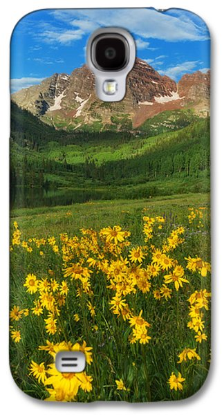 Colorado Galaxy S4 Cases - Maroon Summer Galaxy S4 Case by Darren  White