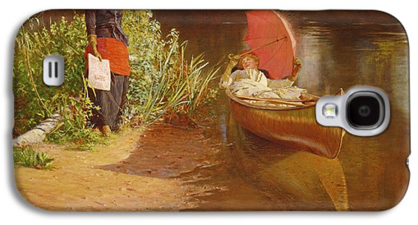 Canoe Paintings Galaxy S4 Cases - Marooned Galaxy S4 Case by Edward John Gregory