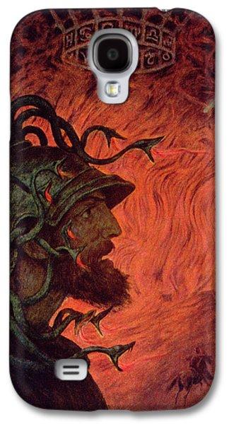 Zodiac Paintings Galaxy S4 Cases - Mars Galaxy S4 Case by Hans Thoma