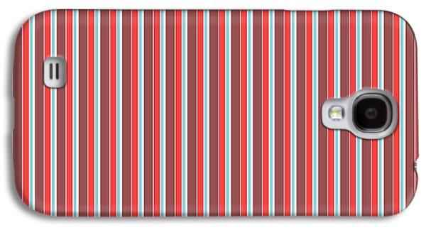 Marsala Stripe 2 Galaxy S4 Case by Linda Woods