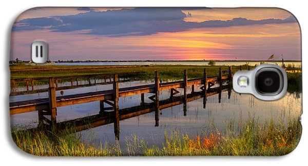 Waterscape Galaxy S4 Cases - Marsh Harbor Galaxy S4 Case by Debra and Dave Vanderlaan