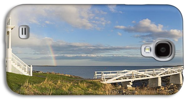 Maine Lighthouses Galaxy S4 Cases - Marshall Point Lighthouse And Rainbow Panorama in Maine Galaxy S4 Case by Keith Webber Jr