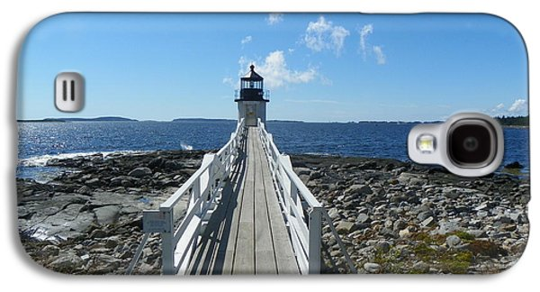 Midcoast Galaxy S4 Cases - Marshall Point Lighthouse from shoreline Galaxy S4 Case by Joseph Rennie
