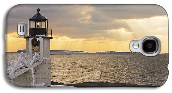 Maine Winter Galaxy S4 Cases - Marshall Point Lighthouse In Winter Maine  Galaxy S4 Case by Keith Webber Jr