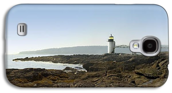 Shore Digital Art Galaxy S4 Cases - Marshall Point Lighthouse - Panoramic Galaxy S4 Case by Mike McGlothlen