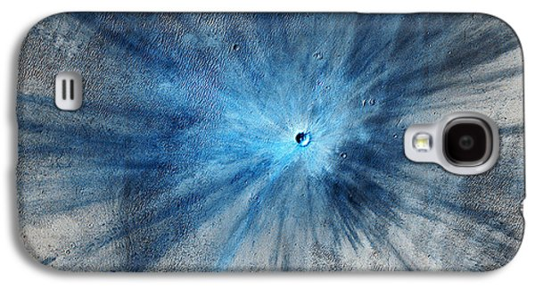 Space Paintings Galaxy S4 Cases - Martian Impact Crater in Mars Galaxy S4 Case by Celestial Images