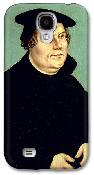 Reformer Galaxy S4 Cases - Martin Luther 1483-1546 Oil On Panel Galaxy S4 Case by Lucas, the Elder Cranach
