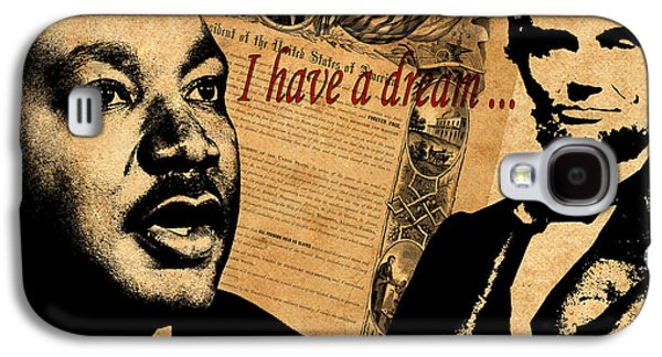 Slavery Galaxy S4 Cases - Martin Luther King Jr 2 Galaxy S4 Case by Andrew Fare