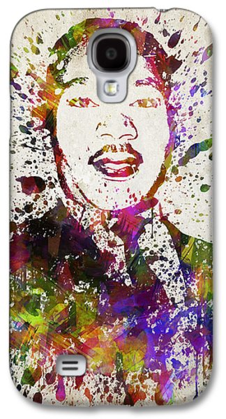 African-american Galaxy S4 Cases - Martin Luther King Jr in Color Galaxy S4 Case by Aged Pixel