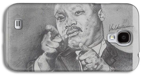 Barack Obama Drawings Galaxy S4 Cases - Martin Luther King Jr Galaxy S4 Case by Valdengrave Okumu