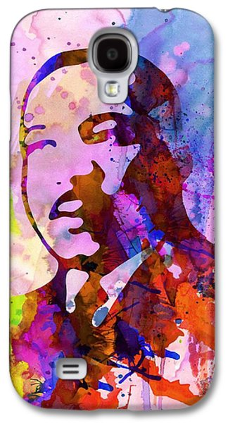 Martin Luther King Jr Watercolor Galaxy S4 Case by Naxart Studio