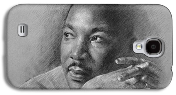 Fine Drawings Galaxy S4 Cases - Martin Luther King Jr Galaxy S4 Case by Ylli Haruni