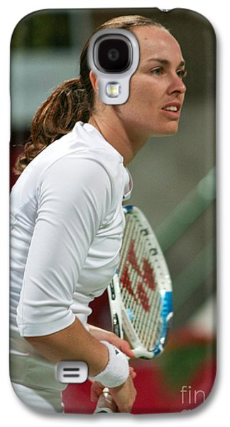 Martina Hingis In Doha Galaxy S4 Case by Paul Cowan
