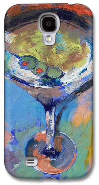 Martini Oil Painting Galaxy S4 Case by Michael Creese