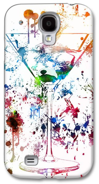 Owner Mixed Media Galaxy S4 Cases - Martini Watercolor  Galaxy S4 Case by Dan Sproul