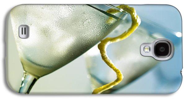 Liquor Photographs Galaxy S4 Cases - Martini with lemon peel Galaxy S4 Case by Johan Swanepoel