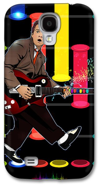 Dr. J Galaxy S4 Cases - Marty McFly plays Guitar Hero Galaxy S4 Case by Akyanyme