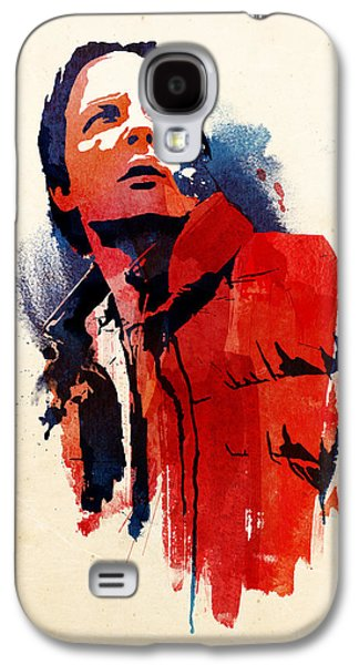 Science Fiction Mixed Media Galaxy S4 Cases - Marty McFly Galaxy S4 Case by Robert Farkas