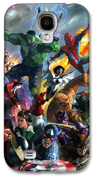 Extinct And Mythical Digital Art Galaxy S4 Cases - Marvel Comics Secret Wars Galaxy S4 Case by Ryan Barger