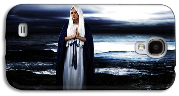 Religious Galaxy S4 Cases - Mary by the Sea Galaxy S4 Case by Cinema Photography