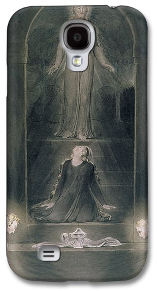Angels Drawings Galaxy S4 Cases - Mary Magdalene at the Sepulchre Galaxy S4 Case by William Blake