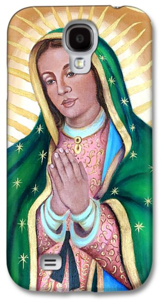 Jesus Tapestries - Textiles Galaxy S4 Cases - Mary our beloved mother Galaxy S4 Case by Yamelin Gonzalez-Ortiz
