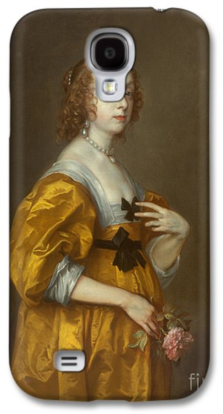 1636 Paintings Galaxy S4 Cases - Mary Villiers Lady Herbert of Shurland Galaxy S4 Case by Celestial Images