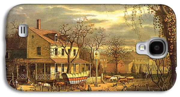Maryland Crossroads Inn 1872 Galaxy S4 Case by Padre Art