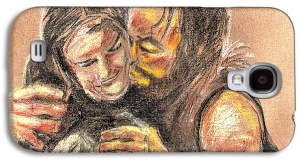 Bible Pastels Galaxy S4 Cases - Marys Kiss Galaxy S4 Case by Seth Weaver
