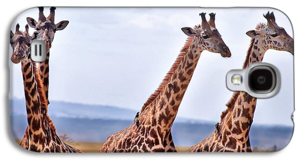 Masai Giraffe Galaxy S4 Case by Adam Romanowicz