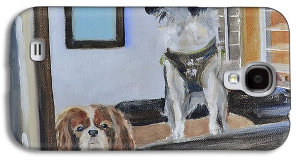 Puppies Galaxy S4 Cases - Mascots of The Inn Galaxy S4 Case by Donna Tuten