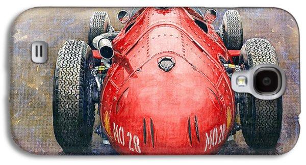 Legend Paintings Galaxy S4 Cases - Maserati 250F Back View Galaxy S4 Case by Yuriy Shevchuk