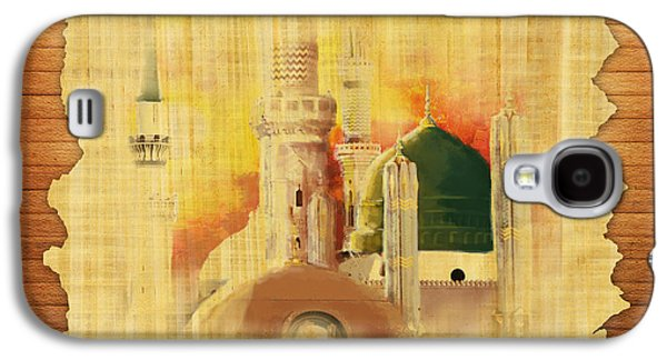 Namaz Paintings Galaxy S4 Cases - Masjid e Nabwi 02 Galaxy S4 Case by Catf