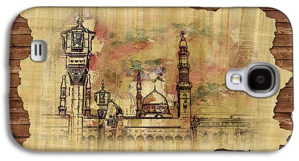 Namaz Paintings Galaxy S4 Cases - Masjid e Nabwi Sketch Galaxy S4 Case by Catf