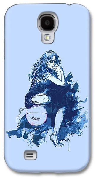 Animation Drawings Galaxy S4 Cases - Blue Mask Galaxy S4 Case by Julio R Lopez Jr